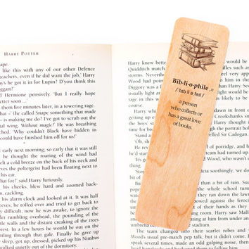 Unique Bookmark, Gift for Reader, Book Lover Gift, Wood Bookmark, Set of 3, Custom Bookmark, Personalize Bookmark, Book Nerd, Bookworm
