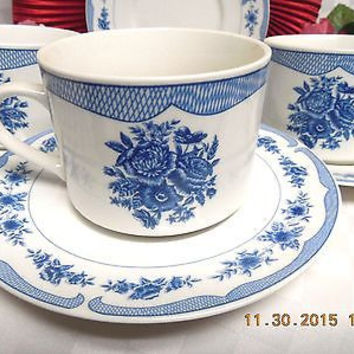 American Atelier, China dinnerware  Floral Toile, #5197 set 2 cup and saucer