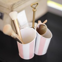 The Emily & Meritt Striped Beauty Cup Caddy
