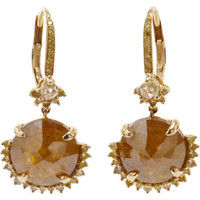 Sharon Khazzam Yellow Diamond Zaline Earrings