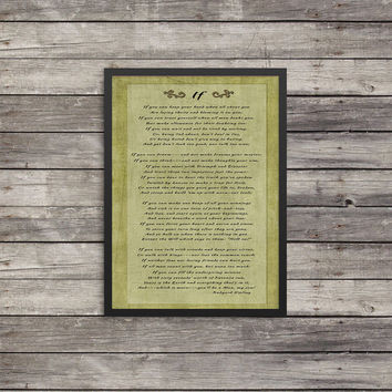 "11x17 Print ""If"" 