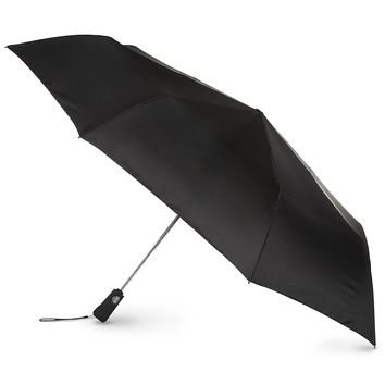 "Totes Umbrella Auto Golf Size -- 55"" Extra Large Coverage, Push Button Automatic Open with Carry Bag (Black)"