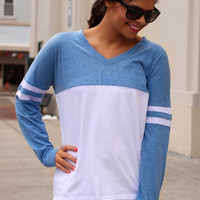 Show Your Spirit Top - Carolina Blue