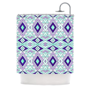 purple and teal shower curtain. Pom Graphic Design  Gems Purple Teal Shower Curtain Shop And Curtains on Wanelo