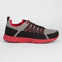 Supra Owen Mens Shoes Grey/Black/Red  In Sizes