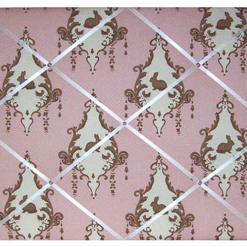 Pink Bunny Toile Lily & Will II Nursery by toilechicboutique