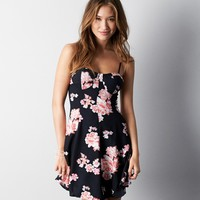 AEO PRINTED CORSET DRESS