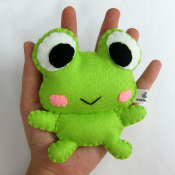 Cute Palm Size Plush Frog - Kreppie