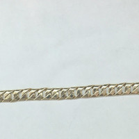 14k yellow gold cuban chain braclet