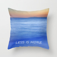 Less is more Throw Pillow by Guido Montañés