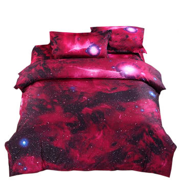 Starry Sky Home Textiles Beding 3D 4 pcs Beding Quilt Cover Flat Sheet Pillow Case x2   01