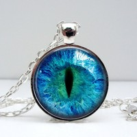 Cat Eye Dome Pendant Necklace - Whimsical & Unique Gift Ideas for the Coolest Gift Givers