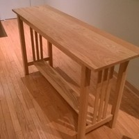Arts and Craft Inspired Side Bar Table