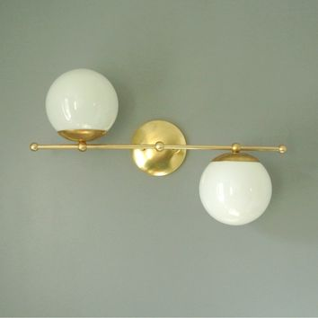 Asymmetrical Mid Century Wall Sconce