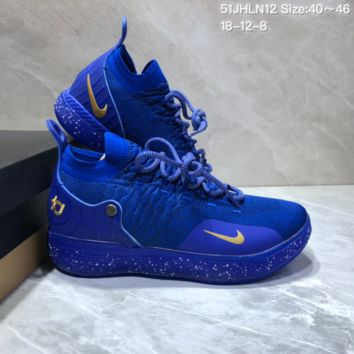 HCXX N674 Nike Zoom KD11 Mid XI Men Actual Baketball Shoes Purple
