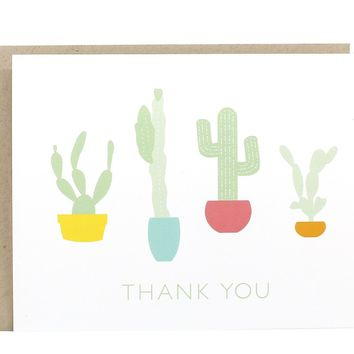 Cactus Graphic Thank You Card