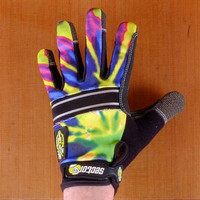 Sector 9 BHNC Lime Burst Slide Gloves