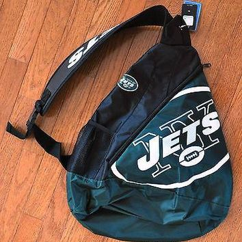 NY New York Jets BackPack / Back Pack Book Bag NEW - TEAM COLORS - SLING