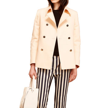 3.1 Phillip Lim Peach Shrunken A-Line Peacoat