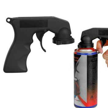 Spray Adapter Car Paint Care Aerosol Spray Gun Handle with Full Grip Trigger Locking Collar Black Auto Wash Maintenance Tools