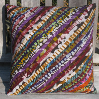 Wax Print Decorative Batik Throw Pillow Cover 18 x 18 - Quality Ghana Textiles