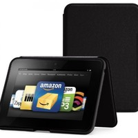 """Amazon Kindle Fire HD 7"""" (Previous Generation) Standing Leather Case, Onyx Black (will only fit Kindle Fire HD 7"""", Previous Generation) - will not fit new Fire HD 7"""
