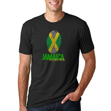 Yaad Threads - Jamaica Fingerprint - Male T-Shirt