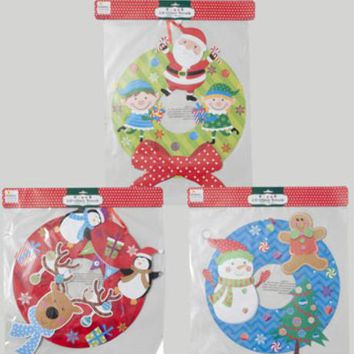 Christmas Wreath Glitter & Tip-On Paper - 48 Units
