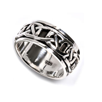 925 Sterling Silver Wiccan Weave Craft Ring