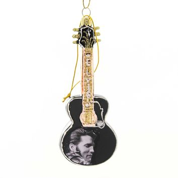 Holiday Ornaments ELVIS PRESLEY GUITAR Glass Hand Crafted Ep4181