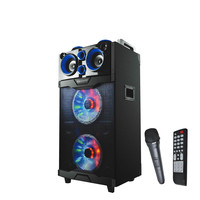 "2 x 10"" Bluetooth® Professional DJ Speaker with Flashing Lights"