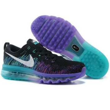 """NIKE"" Trending Fashion Casual Sports Shoes Gradient knit Blue-purple"