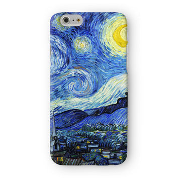 Starry Night 2 by Van Gogh Full Wrap 3D Printed Case  for Apple iPhone 6 by Painting Masterpieces