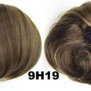 Styling Tools Synthetic Blonde Hair Extensions Fake Hair Bun Pieces Curly Bride Chignon Donut Hairpiece Chignons 9h19
