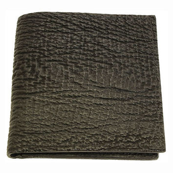 Shark Skin Hipster Wallet in Black - Real Shark Leather - Free Shipping to USA