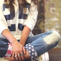 DIY American Flag Cuffs - Free People Blog