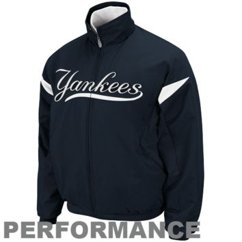 Majestic New York Yankees Youth Navy Blue-White Therma Base Triple Peak Premier Full Zip Jacket - http://www.shareasale.com/m-pr.cfm?merchantID=7124&userID=1042934&productID=492909436 / New York Yankees