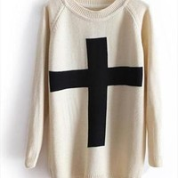 A 071005 Cross sweater, Loose sweater from cassie2013