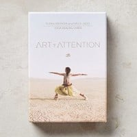 Art Of Attention: Yoga Healing Cards by Anthropologie in Sky Size: One Size Books