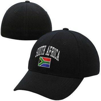 Licensed Sports Top of the World South Africa 1FIT Flex Hat - Black KO_20_2