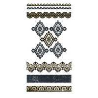 Metallic Lace Temporary Tattoos Gold Combo One Size For Women 25396607901