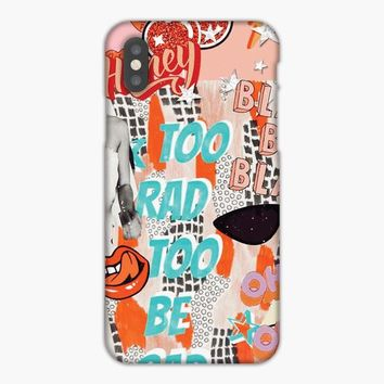 Too Rad Too Be Sad Collage iPhone XR Case