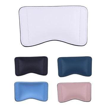 White/ Black/ Blue/ Dark Green/ Pink Leather Mouse Hand Holder Mouse Pad Gaming Hand Wrist Guard Medical Ice Bag with Wrist Rest