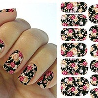 Untainted Chic Decal Art Tip Nail Stickers Decoration Design Flower Water Transfer Manicure