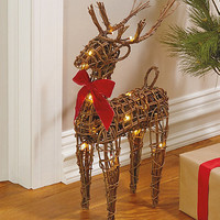 LED Light-Up Reindeer with Scented Pinecones