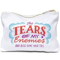 The Tears of My Enemies Canvas Zipper Pouch