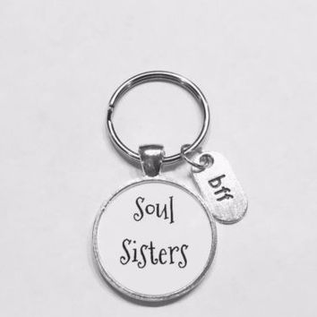 Soul Sisters BFF Best Friend Gift Friendship Keychain