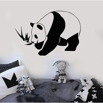 Vinyl Wall Decal Panda Bear Animal Children's Room Stickers Mural Unique Gift (527ig)
