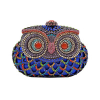 Super Cute Blue Owl Clutch