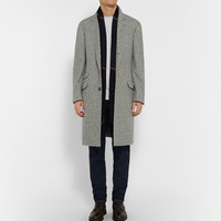 Brunello Cucinelli - Solemaro Cashmere and Silk-Blend Herringbone Coat | MR PORTER
